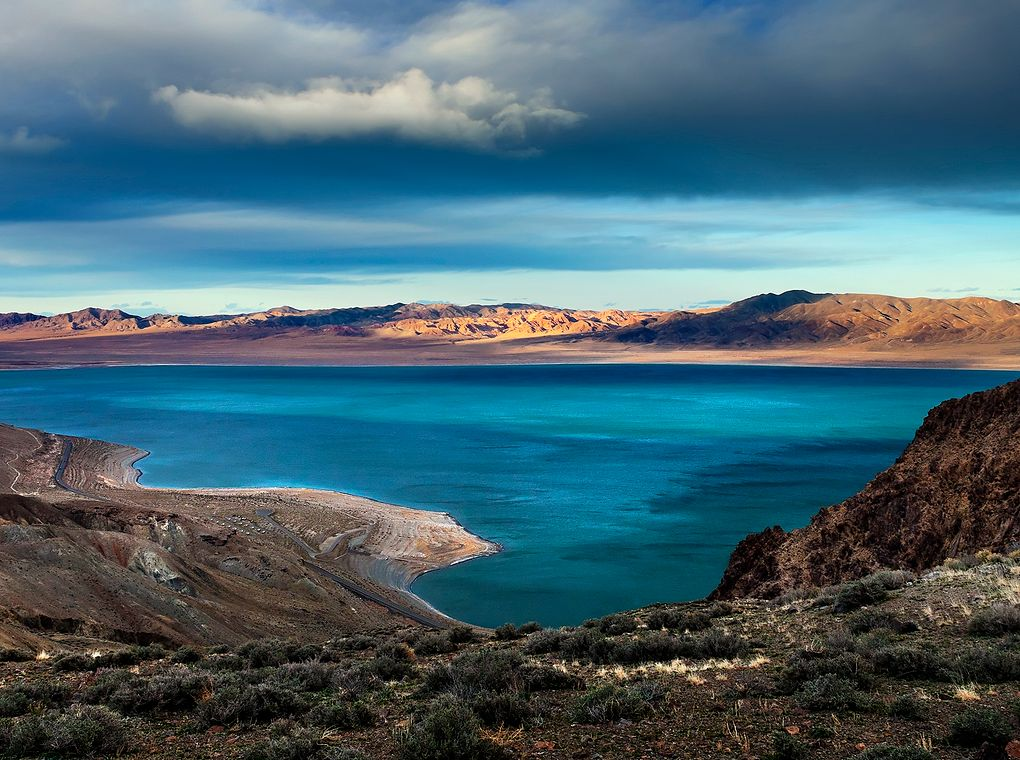 rocky lake shore